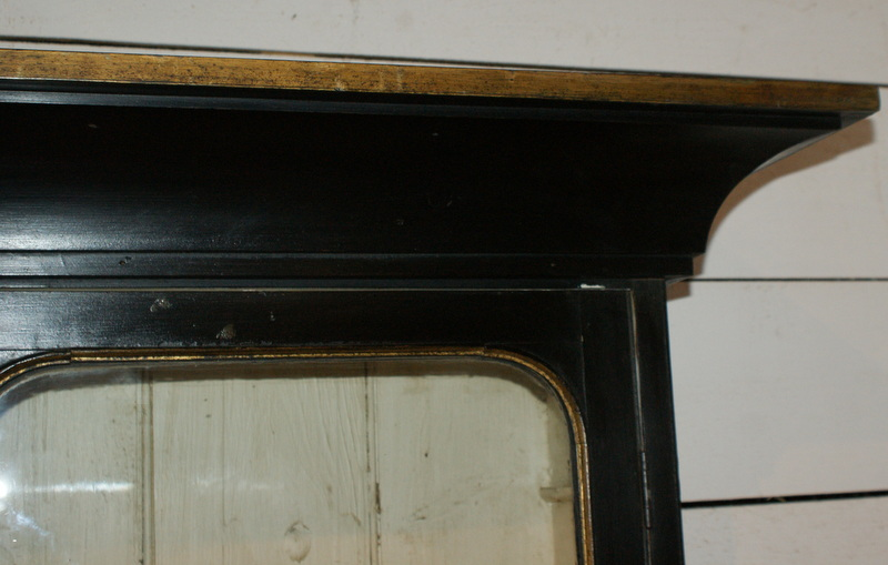 Black & Gilt Display Cabinet