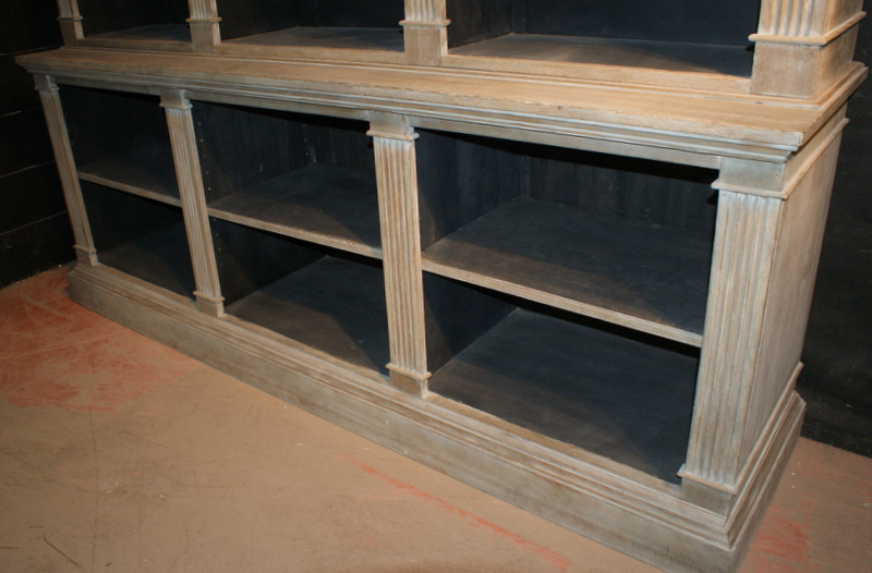 Architectural Bleached Oak Bookcase