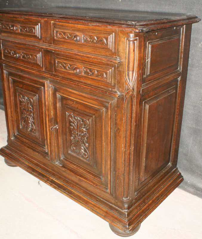 Carved Side Cabinet