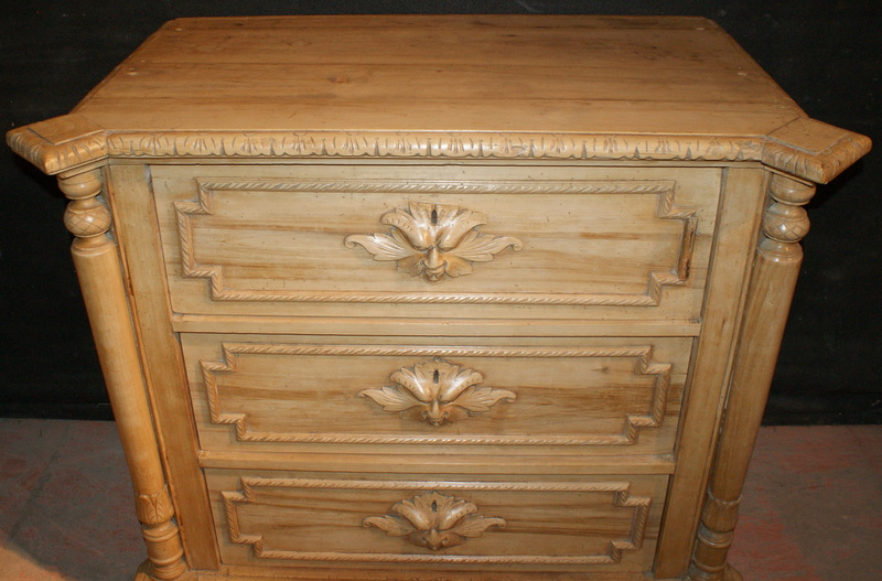 Carved Sycamore Commode