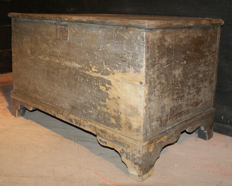 Original Painted Blanket Box