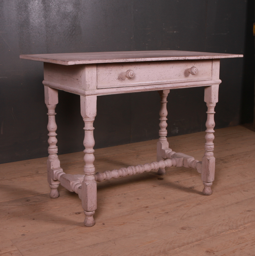 English Painted Lamp Table