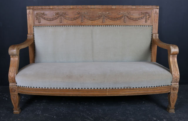 Antique Oak Sofa