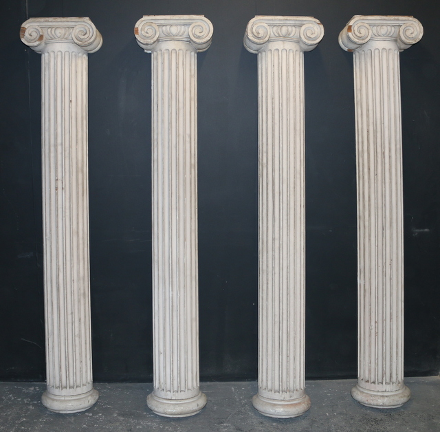 Original Painted Half Columns