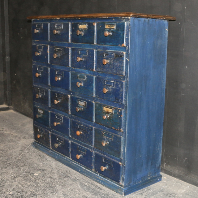 Antique Bank of 24 Drawers