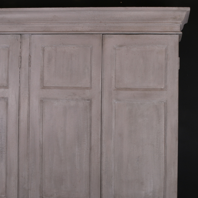 Narrow Painted Housekeepers Cupboard