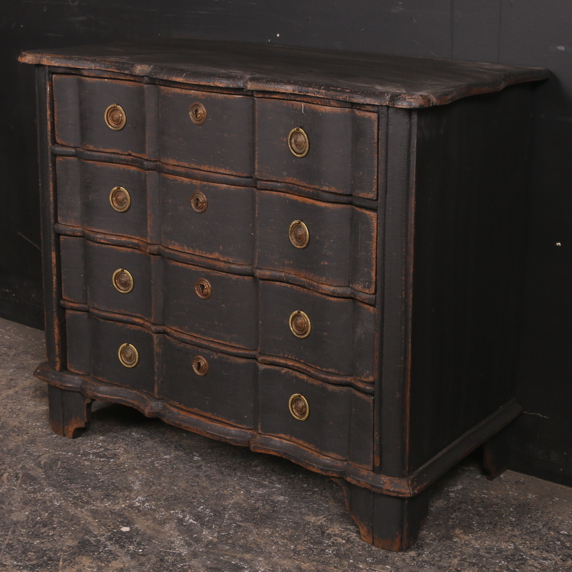 Dutch Painted Serpentine Commode