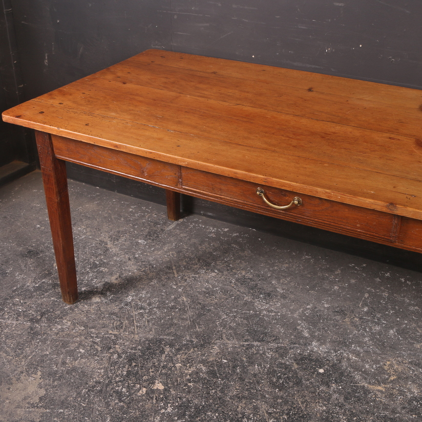 French Pine Oak Kitchen Table Antique Tables