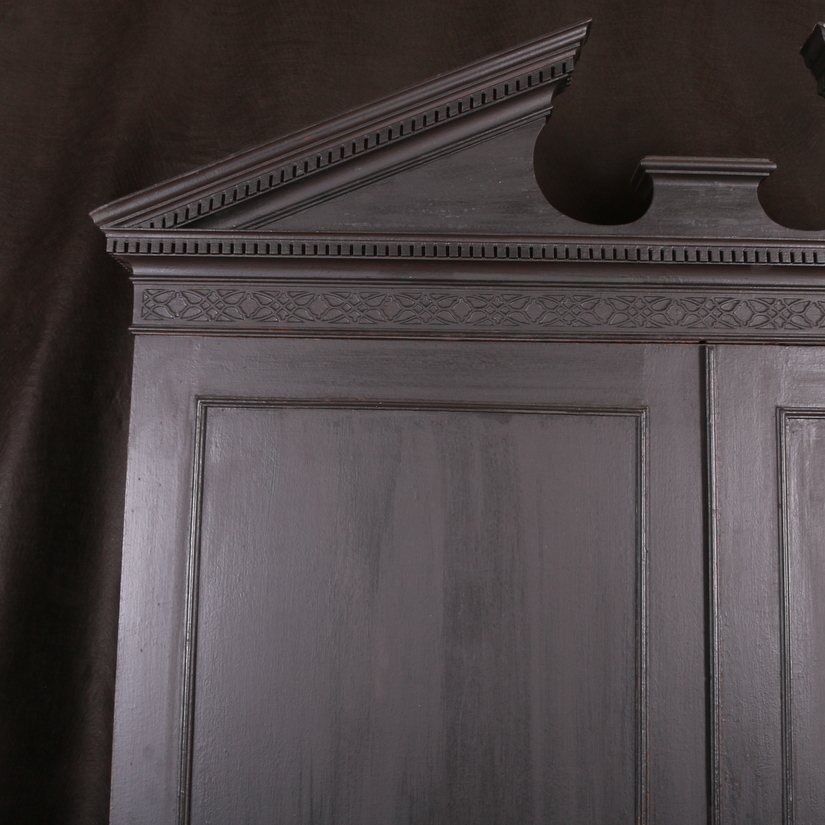 Black Painted Georgian Wardrobe