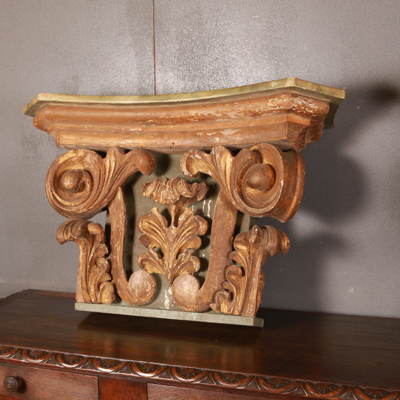 Large Pair of Italian Capitals