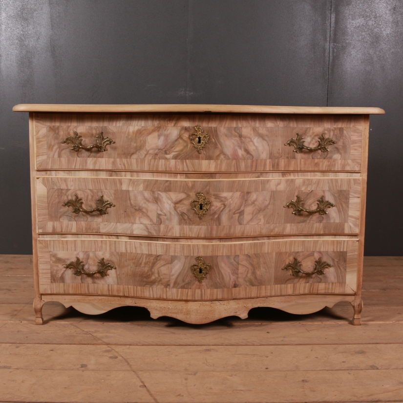 Walnut Serpentine Commode