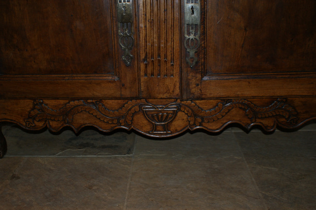 Carved Walnut Buffet