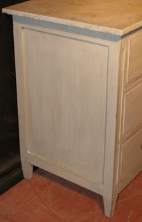 Swedish Marble Topped Commode