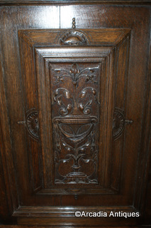 French Carved Oak Buffet