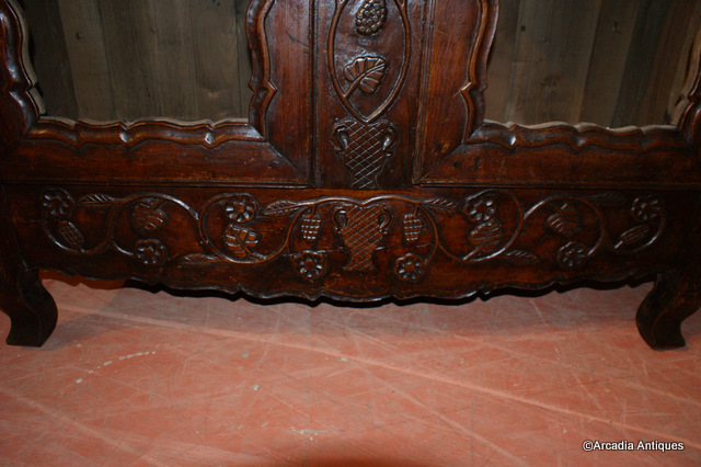 Carved Fruit Wood Bookcase