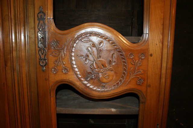 Carved Cherrywood Armoire