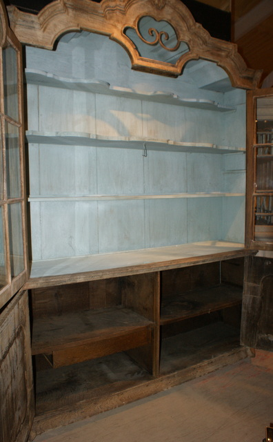 Bleached Display Cabinet