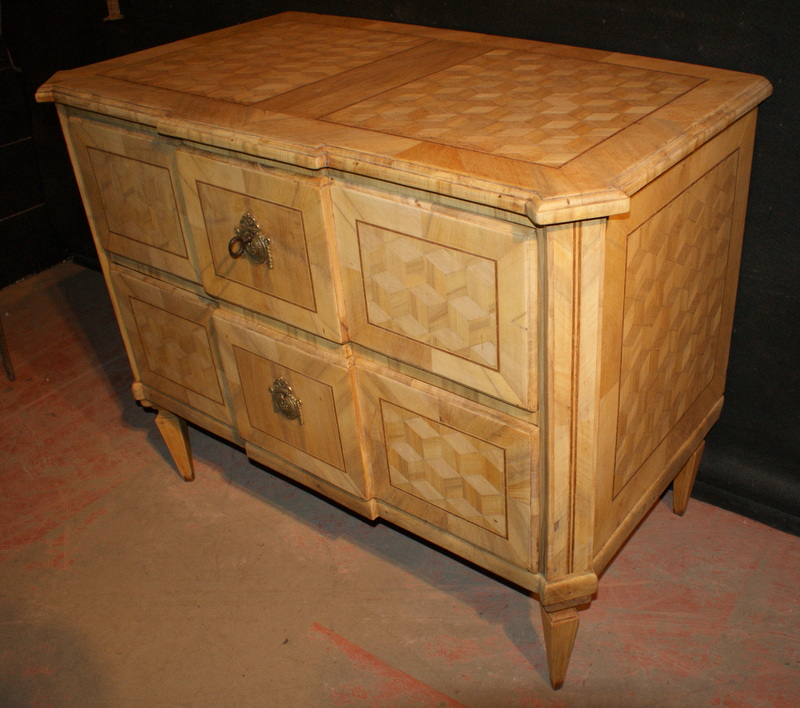Bleached Walnut Commode