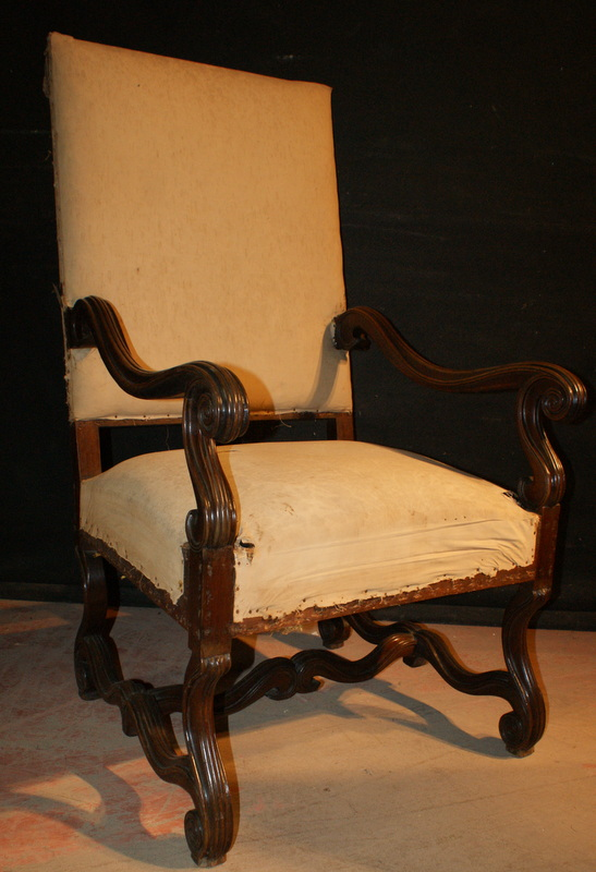 Antique Pair of Walnut Arm Chairs