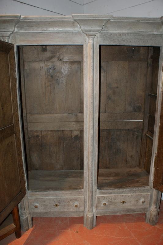 Bleached Oak Armorie Antique Armoires