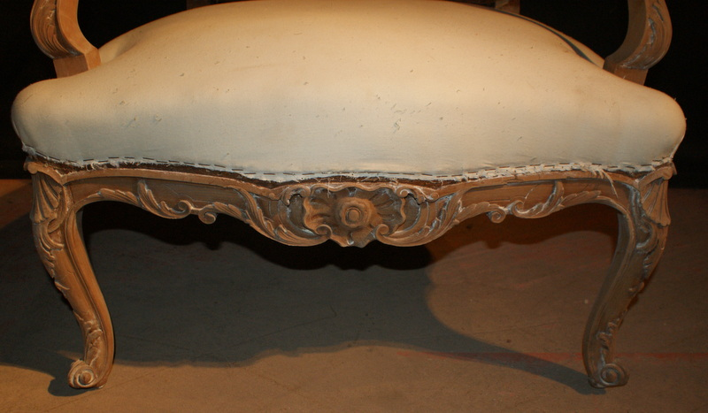Carved Pair of French Fauteuils