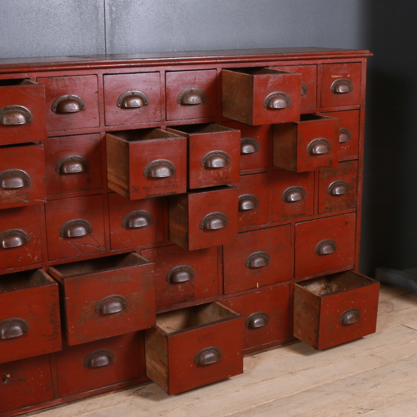 English Bank of 65 Drawers