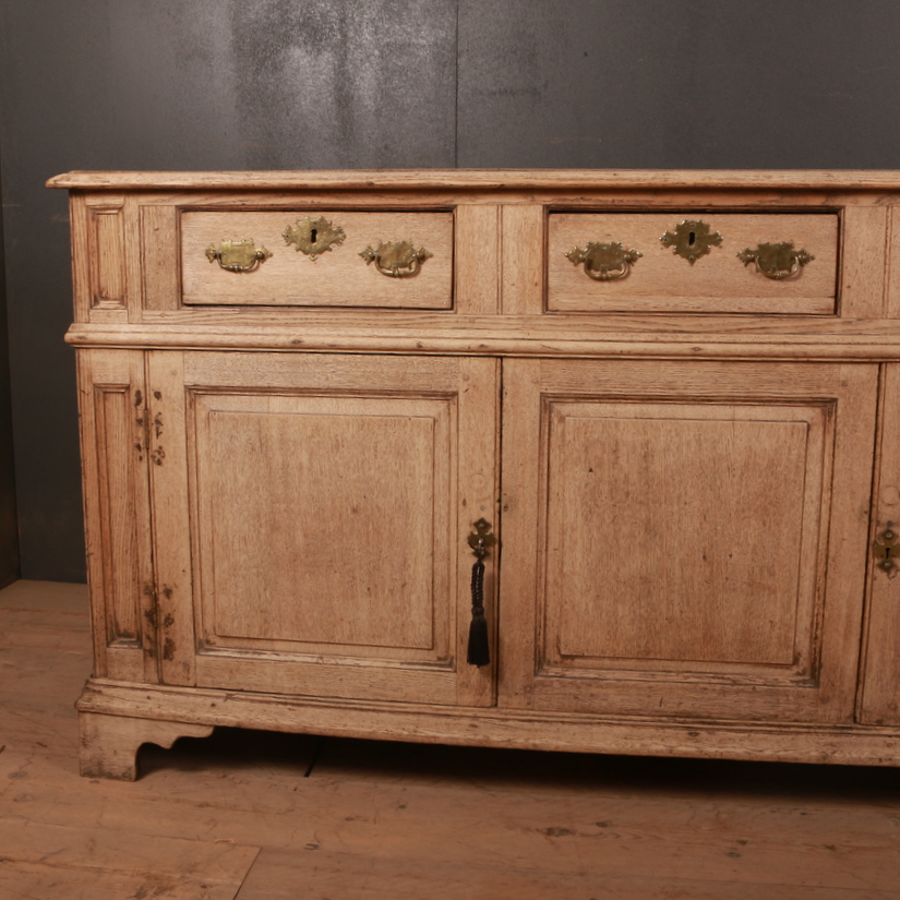 English Bleached Oak Dresser Base