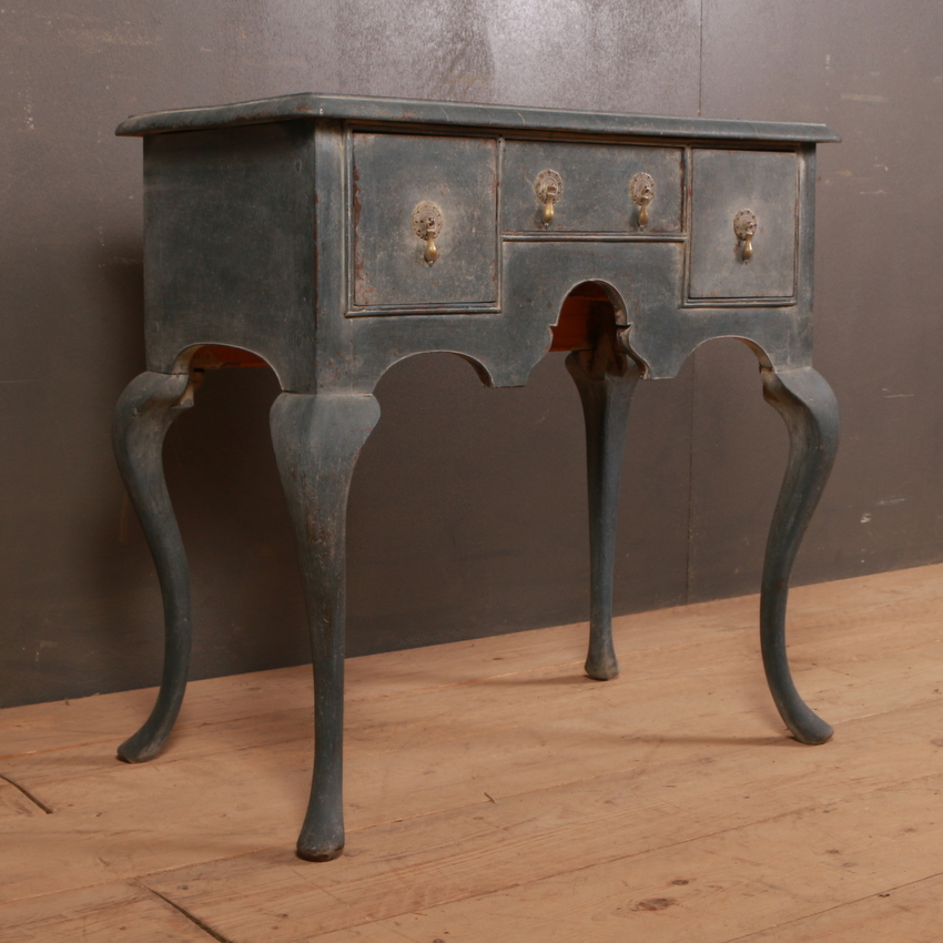 English Painted Lowboy / Lamp Table