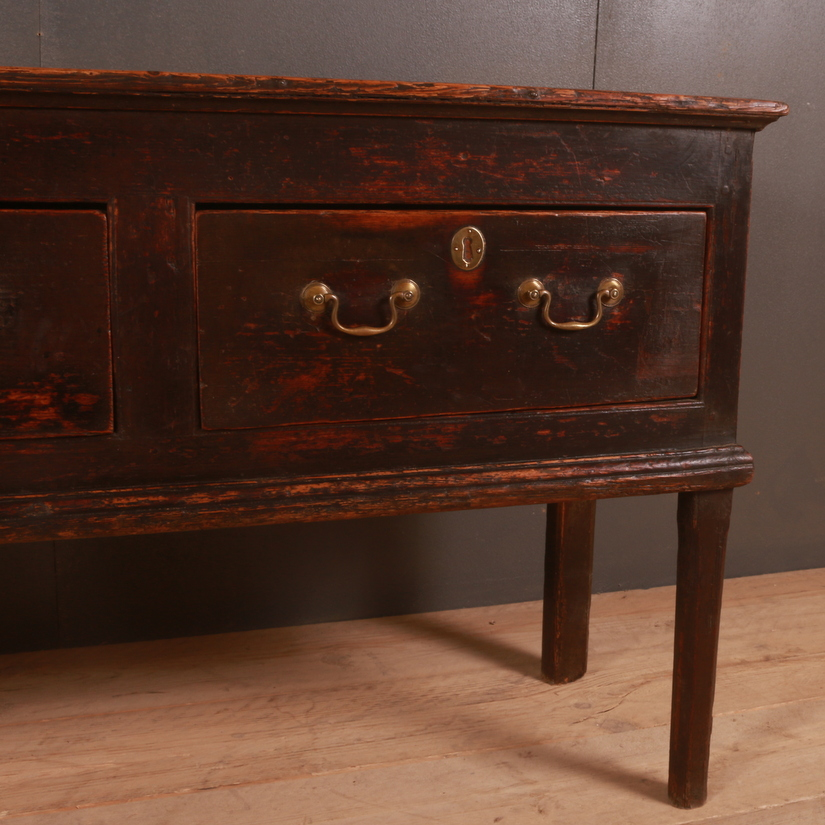 English Patinated Pine Dresser Base