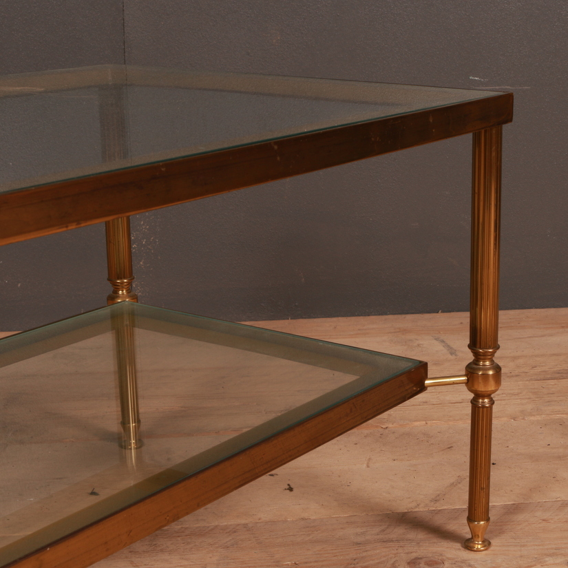 French Brass Lamp Table