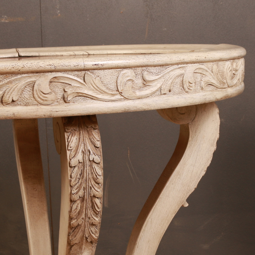 French Painted Lamp Table