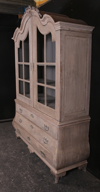 Bleached Oak Cabinet Antique Cupboards