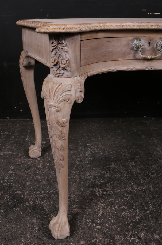 Carved Walnut Writing Table