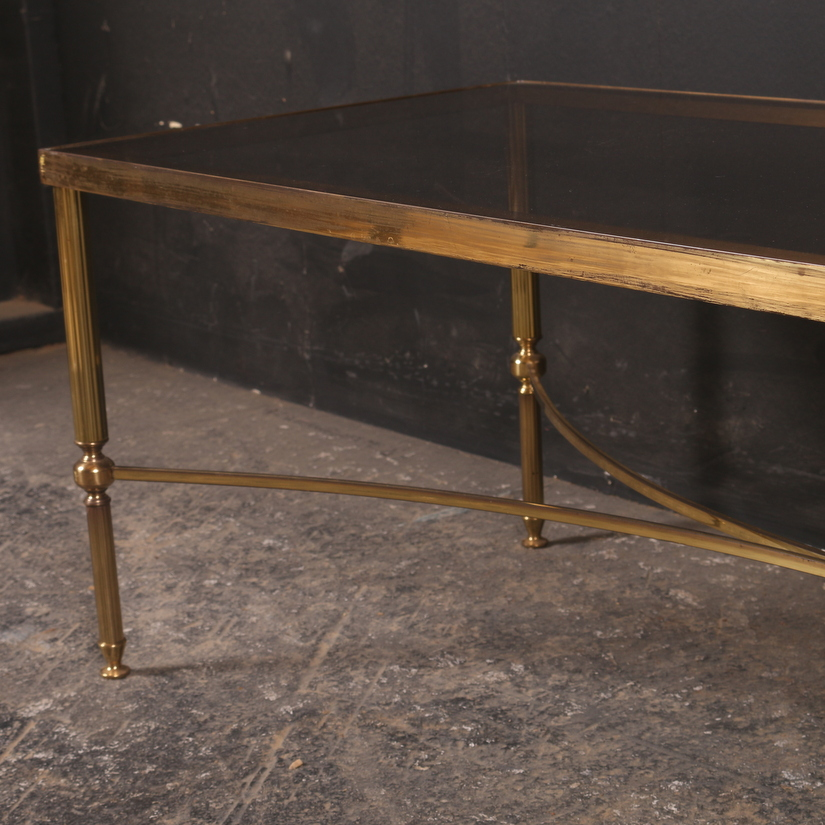 Brass And Glass Low Table