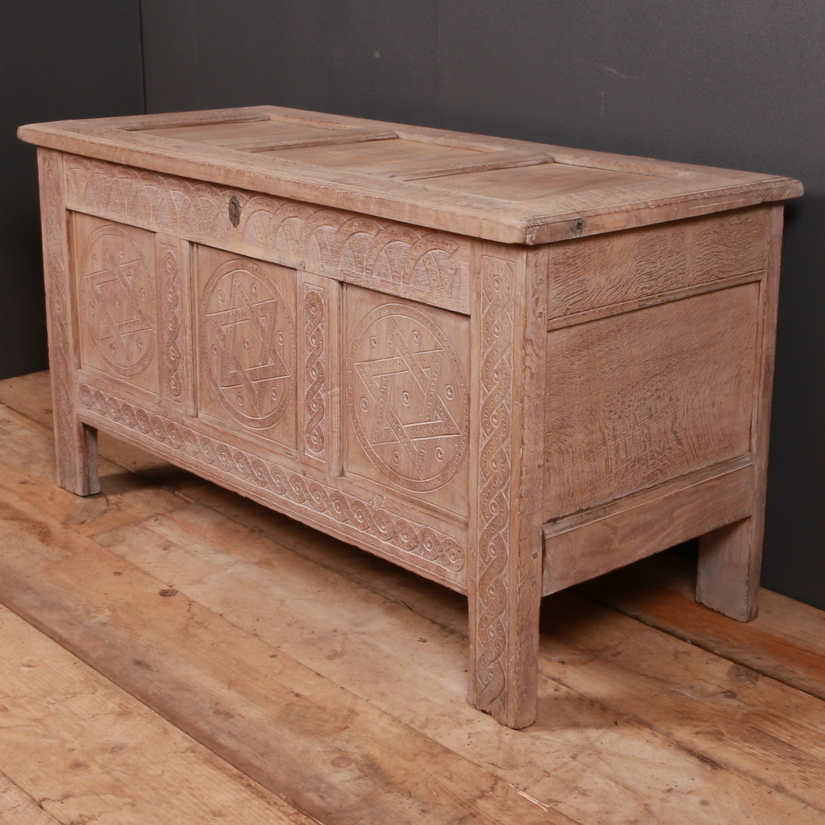 English Carved Oak Coffer