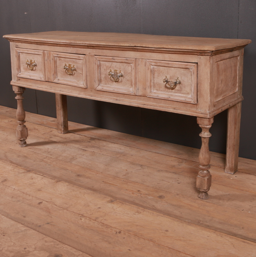 Bleached Oak Dresser Base