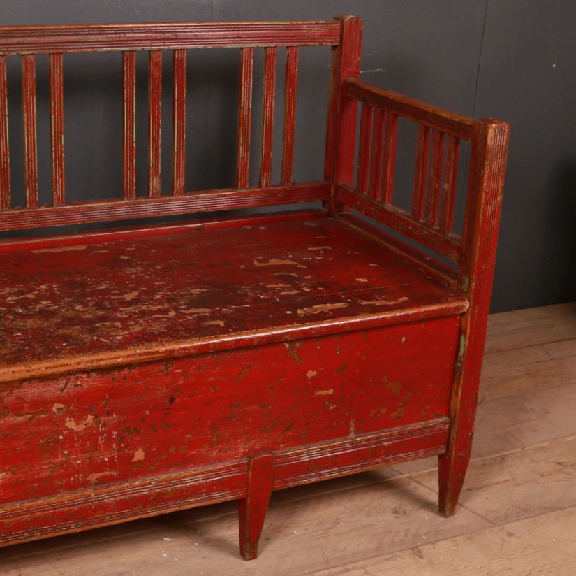 Original Painted Swedish Bench