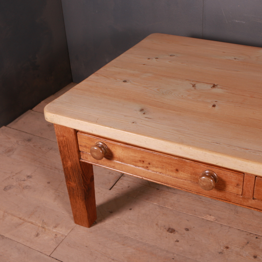 Large English Scrubbed Pine Coffee Table