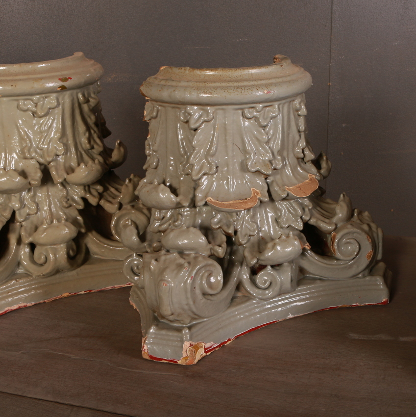 Set of 4 Carved Capitals