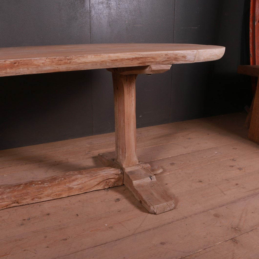 French Elm Trestle Table