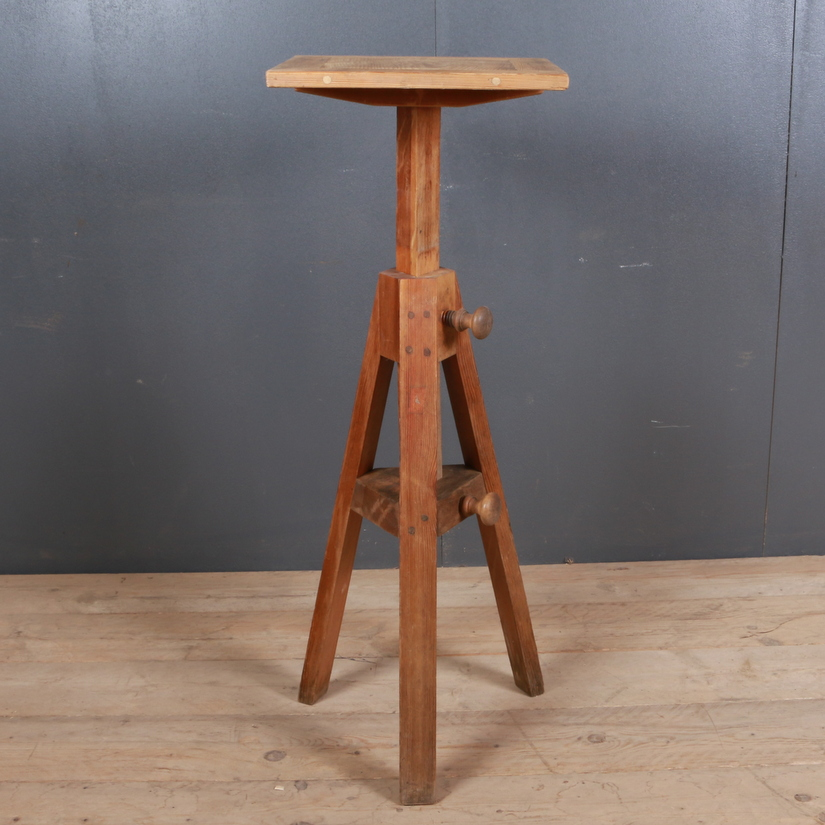 Antique Pine Sculpture Stand