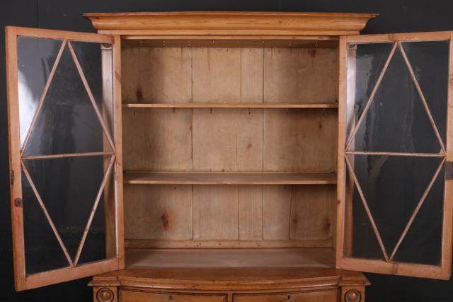 Bowfront Display Cupboard
