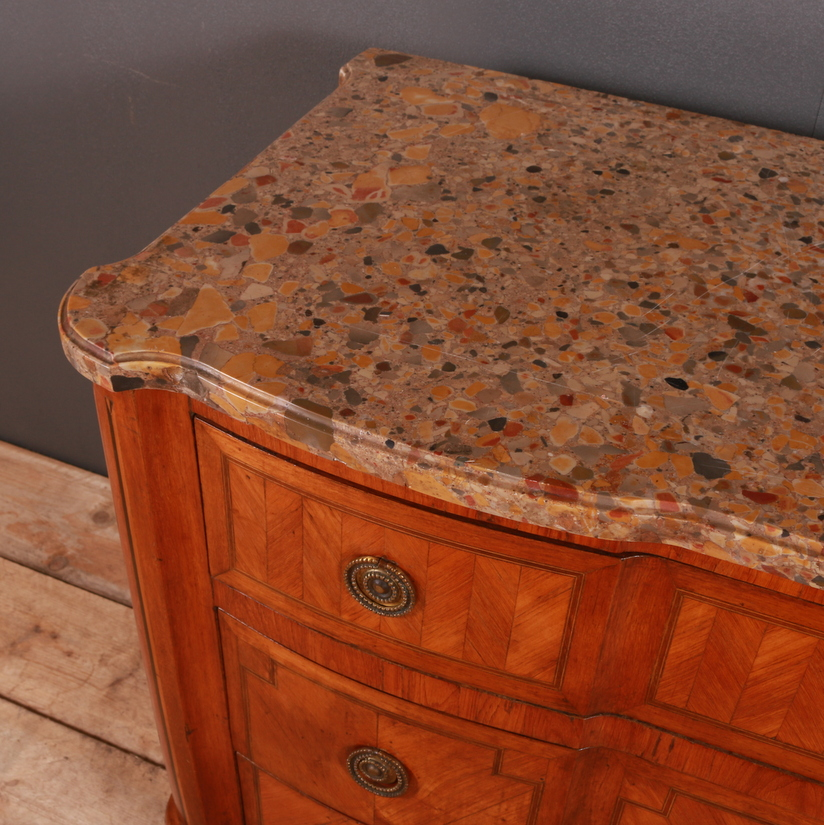 French Walnut and Gilt Commode