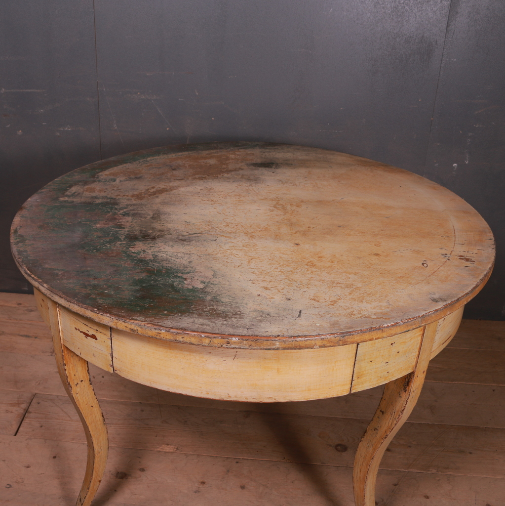 Large Original Painted Breakfast Table