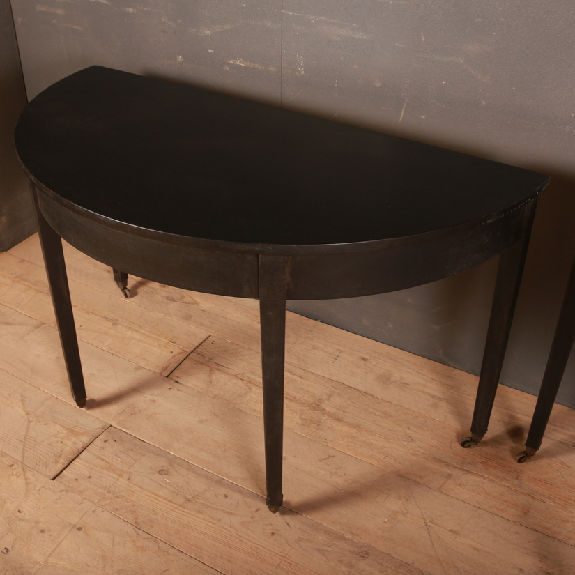 Pair of Demi-Lune Console Tables