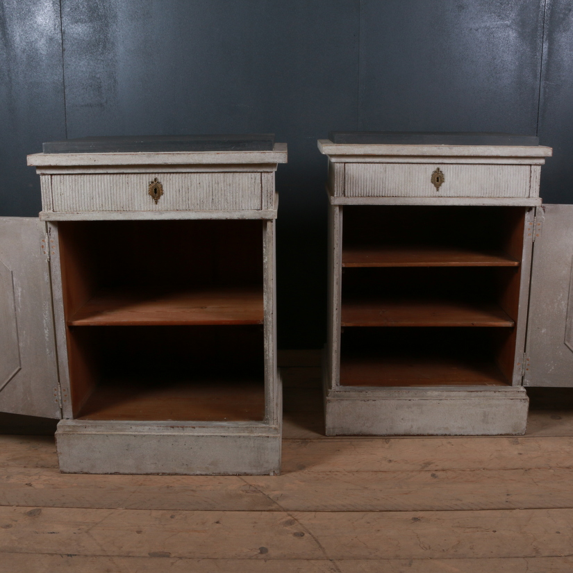 Pair of Swedish Painted Cupboards