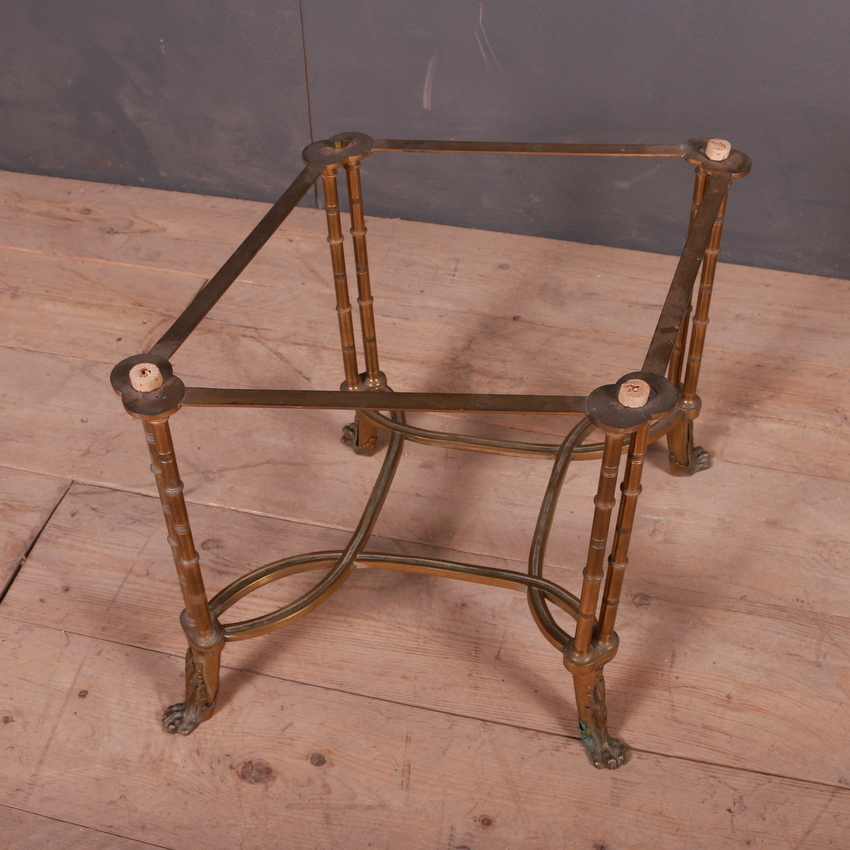 Faux Bamboo Brass Side Table