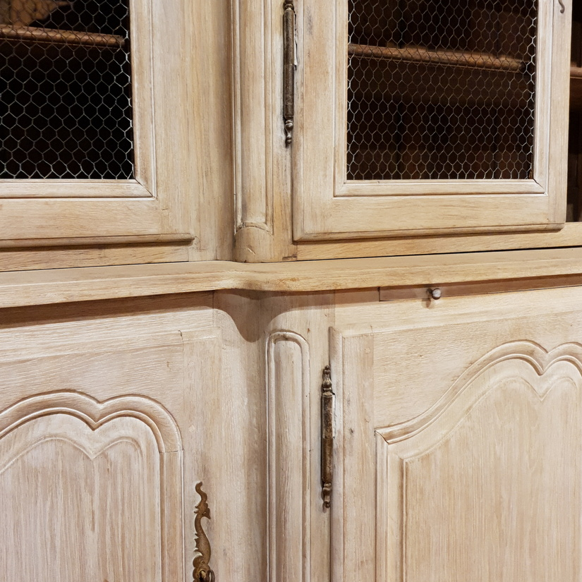 French Bleached Bookcase / Housemaids Cupboard