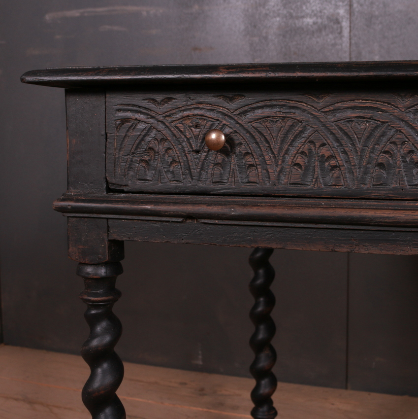 English Carved Lamp Table