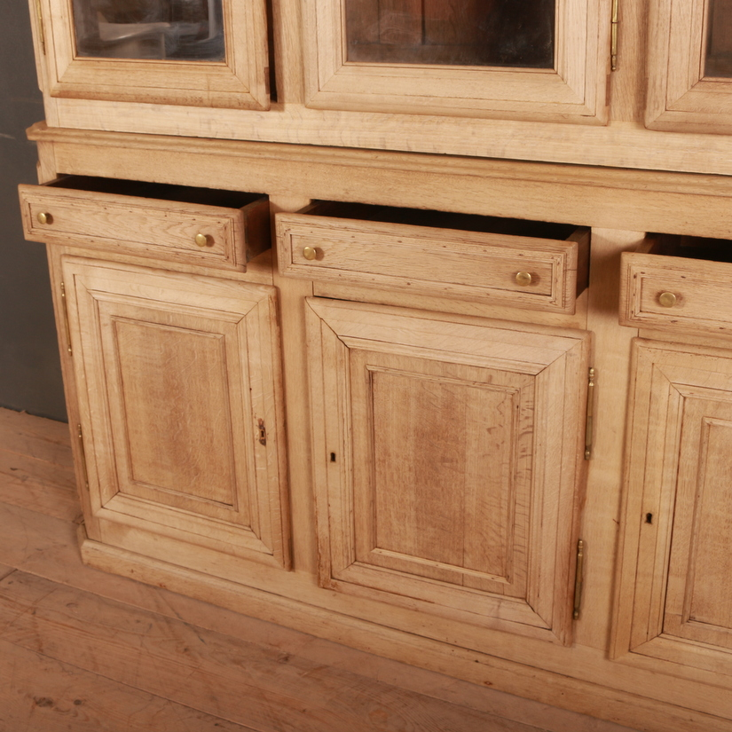 French Bleached Oak Bookcase